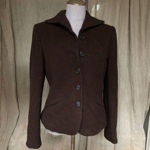 Ralph Lauren Chocolate brown herringbone tweed jac